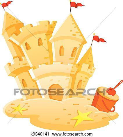 剪贴画 沙子城堡