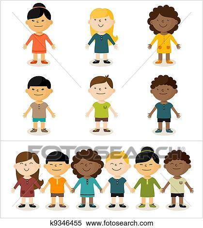 Multicultural Children Clipart Multicultural Children