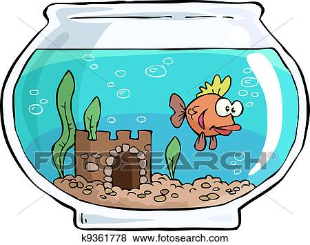 clip art of aquarium k9361778 search clipart illustration posters rh fotosearch com fish tank clip art images fish tank castle clipart