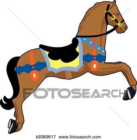 clip art of carousel horse k9369617 search clipart illustration rh fotosearch com carousel horse clipart free Carousel Horse Logo