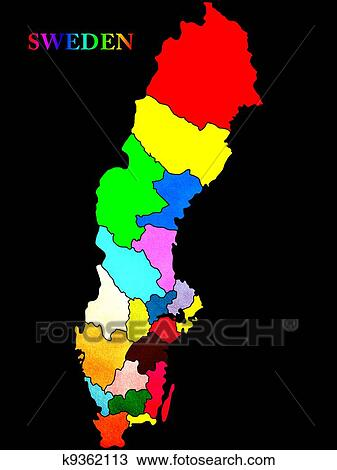 Drawing Of Sweden Map K Search Clipart Illustration - Sweden map search