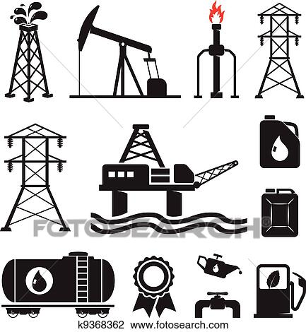 clipart of oil gas electricity symbols k9368362 search