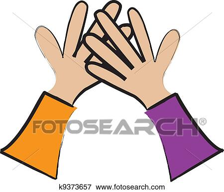 high five clipart. clip art - high five. fotosearch search clipart, illustration posters, drawings, five clipart f