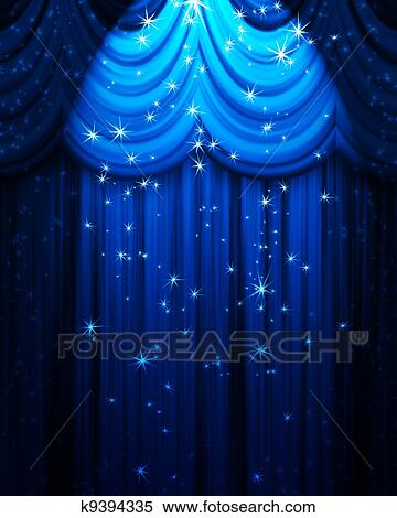 stock illustration blau theater vorhang mit. Black Bedroom Furniture Sets. Home Design Ideas