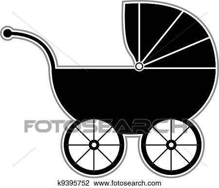 Baby carriage Clip Art Royalty Free. 6,108 baby carriage clipart ...