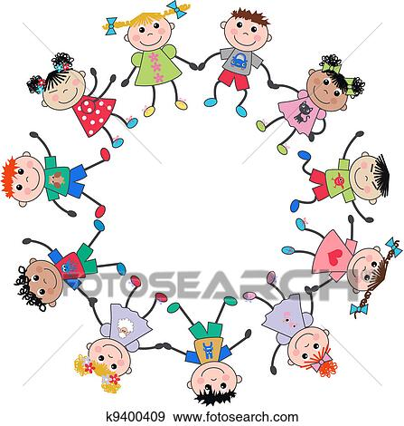 Kinder sitzen im kreis clipart  Clipart - kinder, sitzen, auf, a, bank k11431361 - Suche Clip Art ...