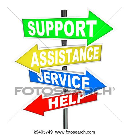 Stock Illustration of Service Assistance Support Help ...