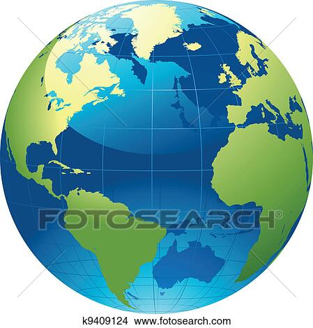 Clip Art Clipart Globe clipart of world globe k9839104 search clip art illustration globe