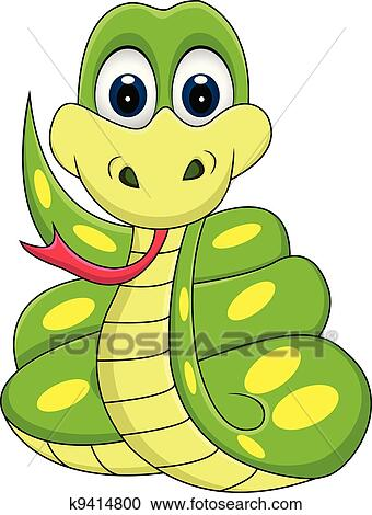 clipart of funny snake cartoon k9414800 search clip art rh fotosearch com Cartoon Cobra Clip Art Cartoon Monkey