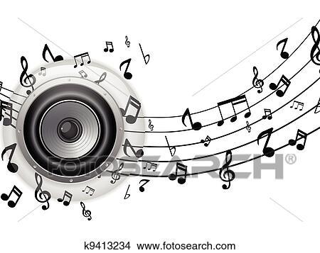 music speakers clipart. speaker glass button with music notes speakers clipart