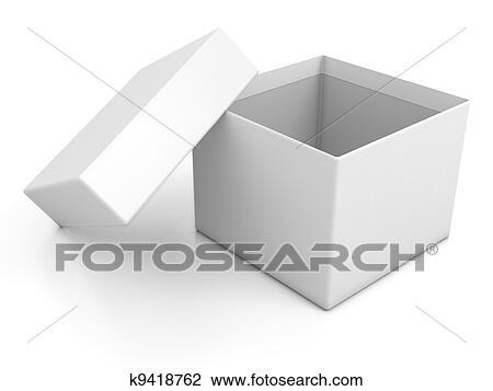 open box clipart. white blank open box clipart