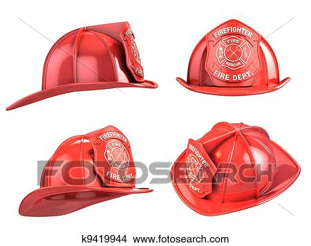 Helmets Drawings Drawing Fireman Helmet From