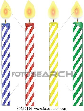 Four Candles Clip Art