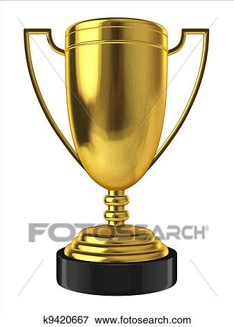 picture of 3d golden trophy k9420667