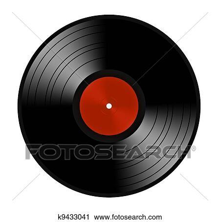 Stock Photography of Black vinyl record lp album disc ...