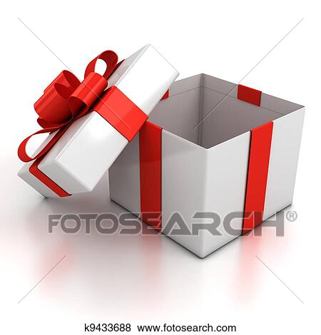 open present clipart. open gift box over white background present clipart f