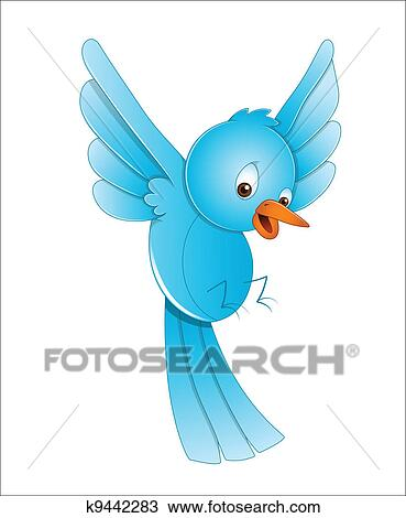 Clipart of Cute bird cartoon flying k13606681 - Search Clip Art ...