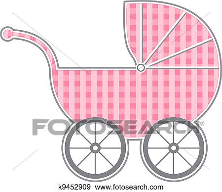 clip art of baby carriage k9452909 search clipart illustration rh fotosearch com baby carriage clip art free baby pram clipart