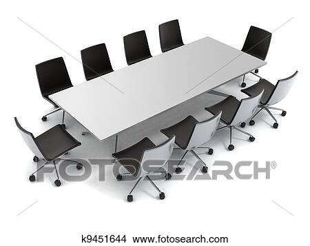 Drawings Of Conference Table Isolated K Search Clip Art - Conference room table and chairs clip art
