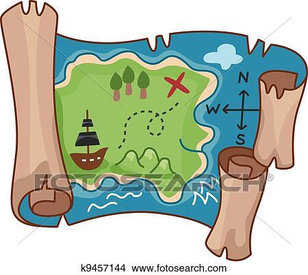 clipart of treasure map k9457144 search clip art illustration rh fotosearch com treasure map clipart detailed treasure map pictures clip art