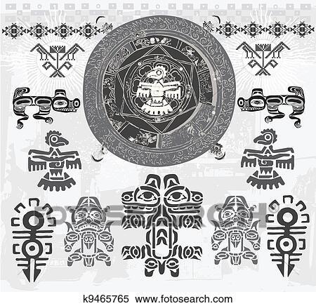 剪贴画 少数民族的印度人, astec
