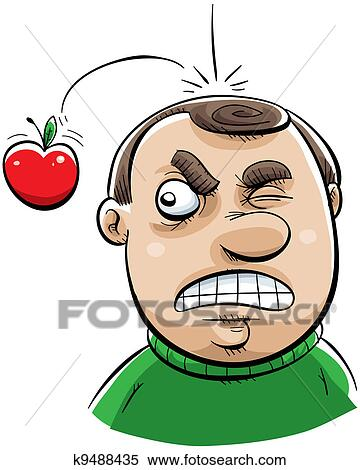 stock illustration of apple impact k9488435 search clipart rh fotosearch com Flower Clip Art Person Clip Art