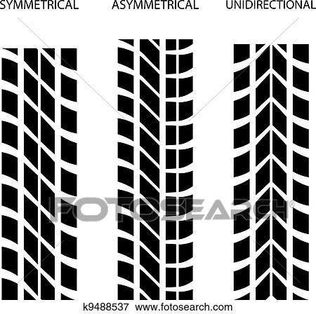clipart vecteur pneu sym trique asym trique unidirectional k9488537 recherchez des. Black Bedroom Furniture Sets. Home Design Ideas