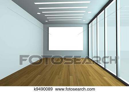 Stock Illustration of Empty office room k9490089 - Search Vector ...