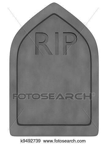 Banque d 39 illustrations 3d render de a pierre tombale isol blanc k9492739 recherche de - Pierre tombale dessin ...