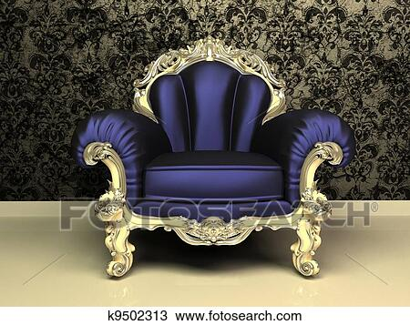 Dessin moderne baroque fauteuil d coratif cadre for Interieur baroque moderne