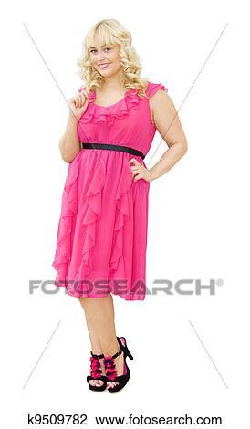 stock foto party in rosa sch ne frau l cheln k9509782 suche stockfotografie. Black Bedroom Furniture Sets. Home Design Ideas