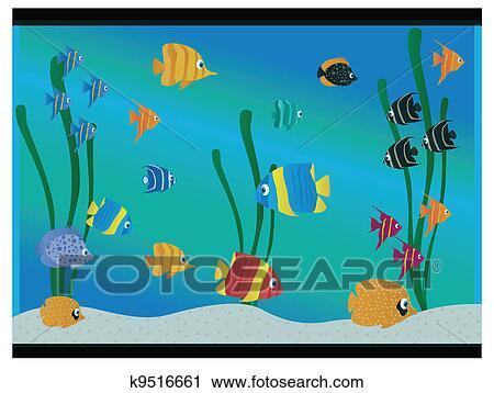 Clipart Of Aquarium K9516661 Search Clip Art