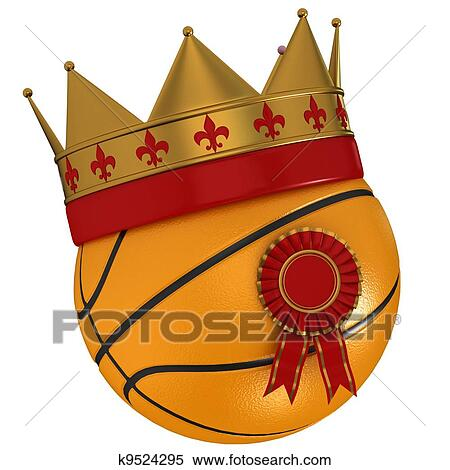 Basketball with crown drawing