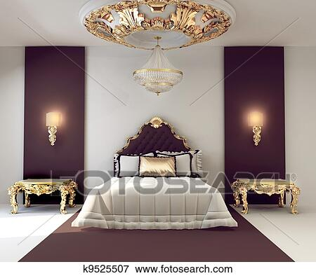 Banque d 39 illustrations luxe double chambre coucher for Chambre a coucher royale