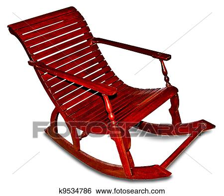 Stock images of the rocking chair isolated on white for Yellow schaukelstuhl