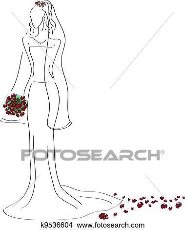 剪贴画 - 婚礼衣服