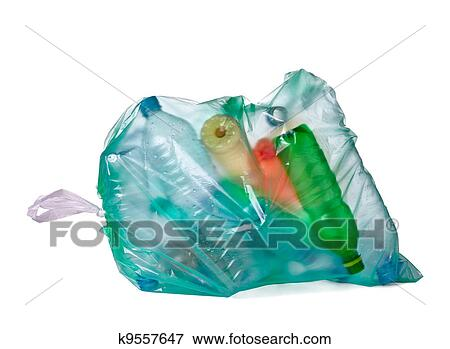 image sac ordures bouteille vide d chets m nagers gaspillage k9557647 recherchez des. Black Bedroom Furniture Sets. Home Design Ideas