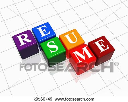 stock illustration of resume k9566749 search vector clipart