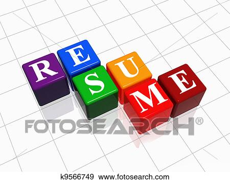 Stock Illustration   Resume. Fotosearch   Search Vector Clipart, Drawings,  Print Murals,  Resume Clip Art
