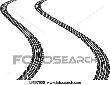 clipart of tire tracks k9567605 search clip art illustration rh fotosearch com tire tread clipart tire tread clipart