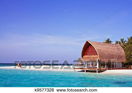 Fotos paisagem foto de casa praia em maldive for Case in stile cottage sulla spiaggia