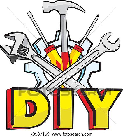 Clip art of do it yourself tools k9587159 search clipart clip art do it yourself tools fotosearch search clipart illustration posters solutioingenieria Images