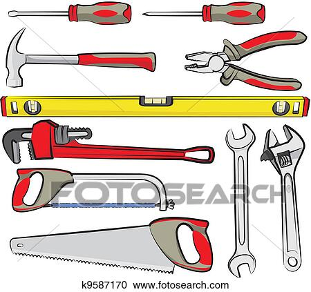 Clipart of hand tools k9587170 search clip art illustration do it yourself hand tools for repairs solutioingenieria Images