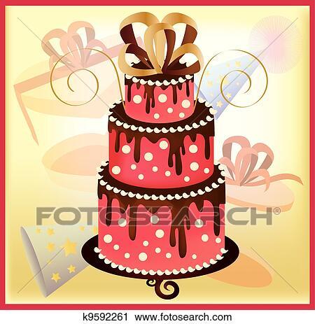 剪贴画 生日蛋糕, 1