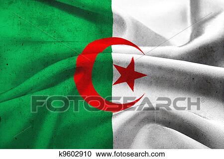 Banque d 39 illustrations grunge drapeau alg rie k9602910 for Banque exterieur d algerie