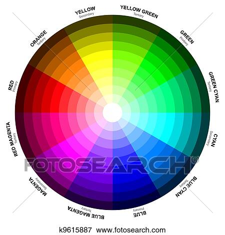 Stock Illustration Of A Color Wheel Or Circle Is An Abstract