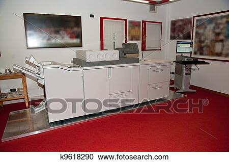 Stock photography of digital press printing machine for Digital mural printing