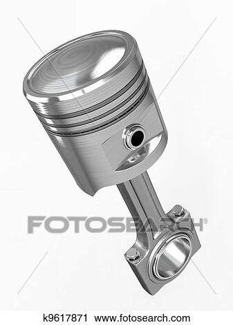 Clipart of Piston and conrod. 3d k9617871 - Search Clip Art, Illustration Murals, Drawings and ...