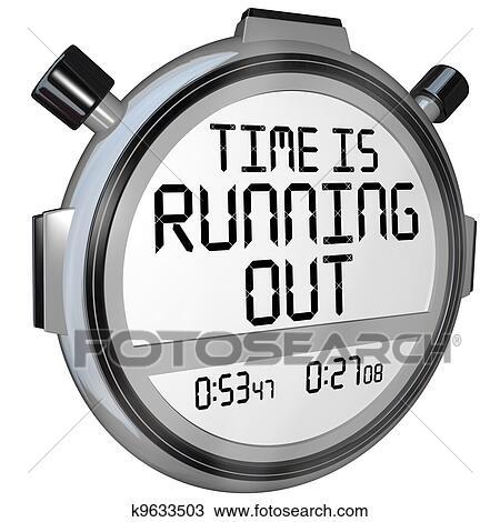 Dessin temps est courant dehors chronom tre - Chronometre et minuteur ...