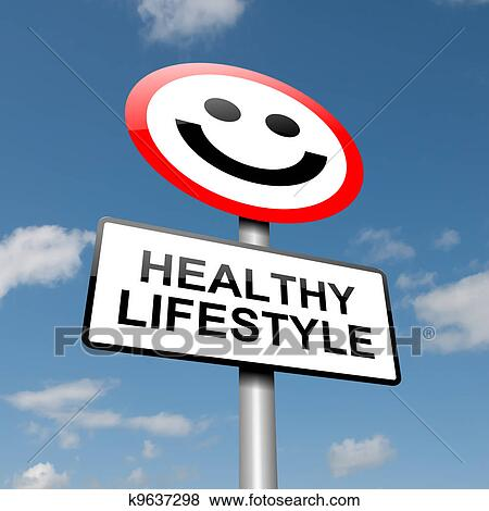 Stock Illustration of Healthy lifestyle concept. k9637298 ...